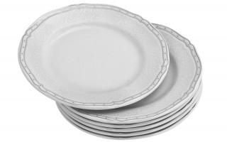 Komplet 6 talerzy deserowych 19,5cm Juliette White