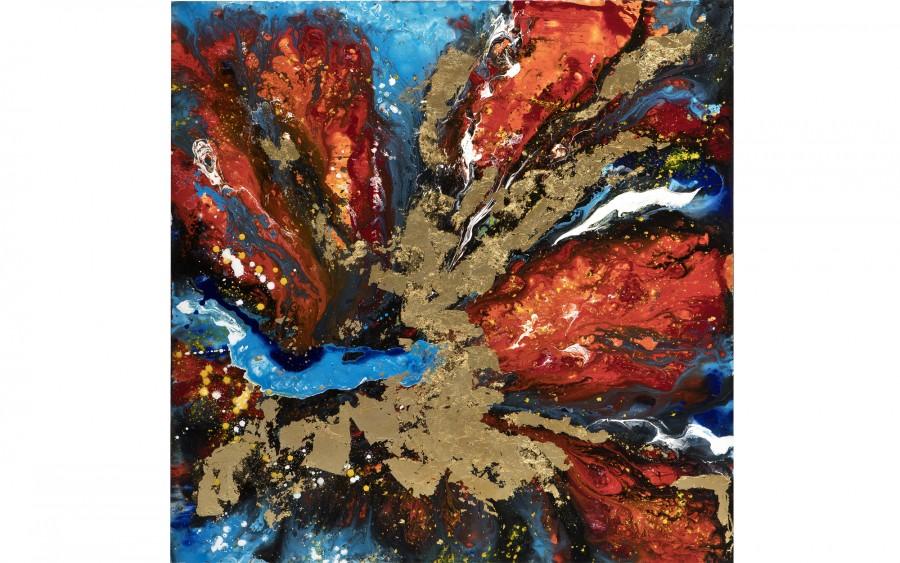 Obraz abstrakcyjny 100x100 cm Vibrant
