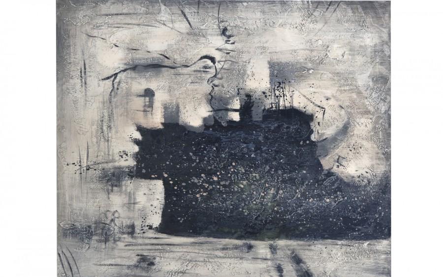 Obraz abstrakcyjny 80x100 cm Szarości