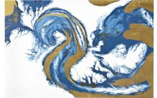 Obraz 80x120 cm Golden Wave
