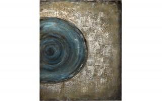 Obraz abstrakcyjny 80x100 cm Blue Lagoon