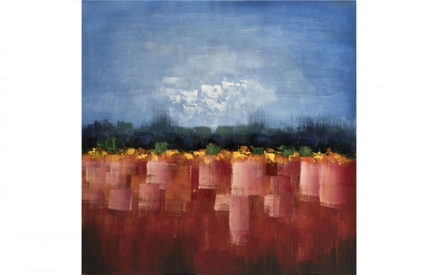 Obraz abstrakcyjny 100x100 cm Field of Red