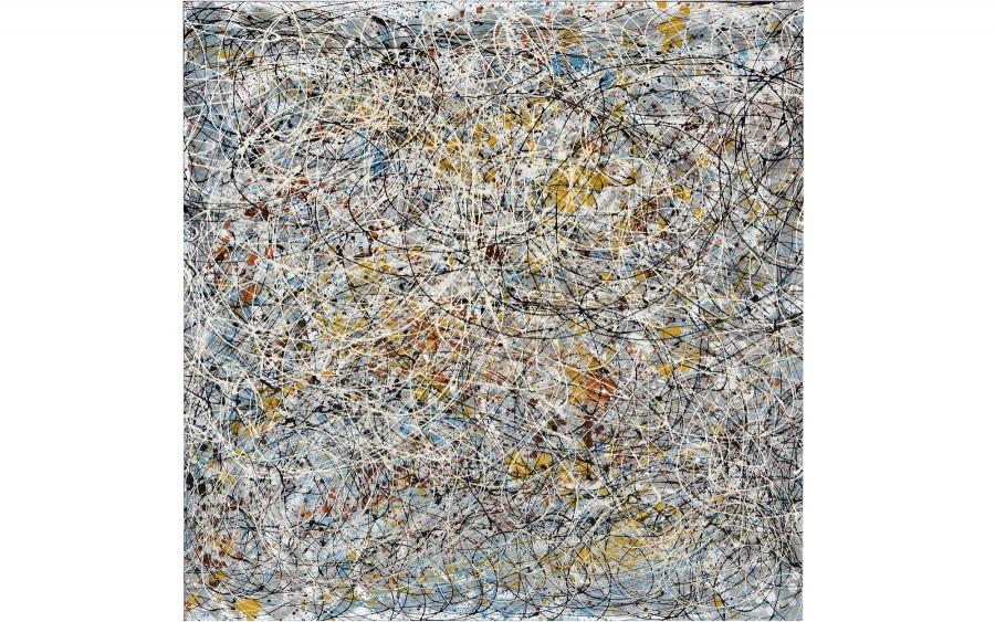 Obraz abstrakcyjny 100x100 cm Confetti Frenzy