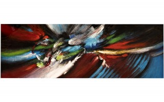 Obraz abstrakcyjny 50x150 cm Flow