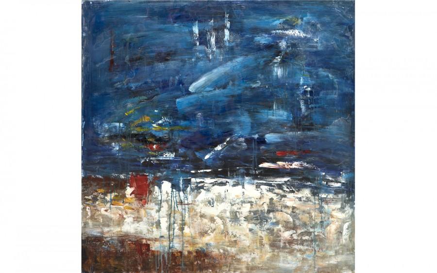 Obraz abstrakcyjny 100x100 cm Night Sky