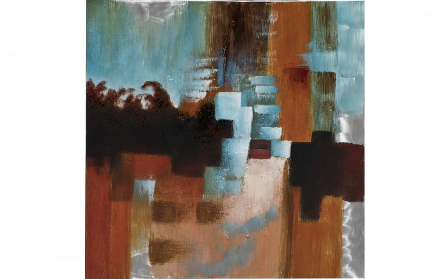 Obraz abstrakcyjny 100x100 cm Red Utopia