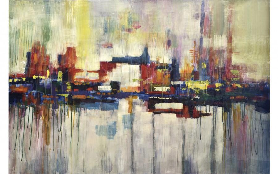 Obraz abstrakcyjny 100x150 cm Lights of the City