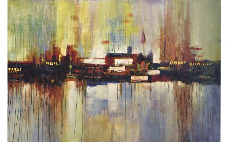 Obraz abstrakcyjny 100x150 cm City at Dawn