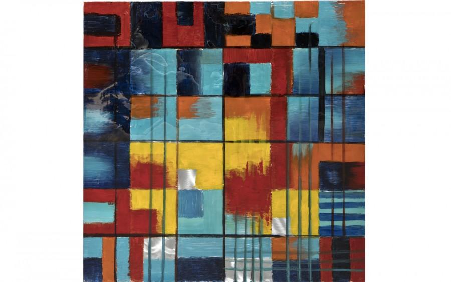 Obraz abstrakcyjny 100x100 cm Cube Frenzy