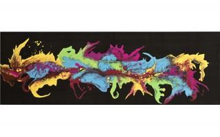 Obraz abstrakcyjny 50x150 cm Dancing Colors