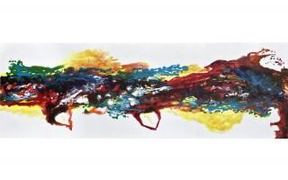 Obraz abstrakcyjny 50x150 cm White Vibrancy