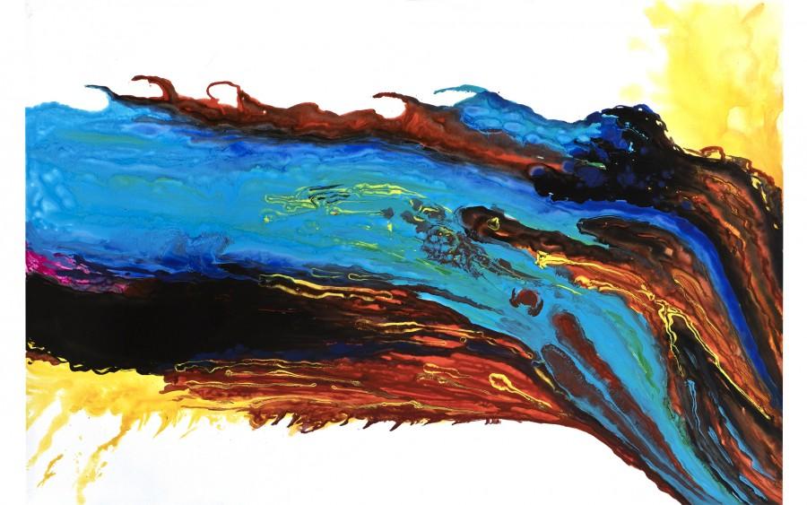 Obraz abstrakcyjny 100x150 cm Tint River
