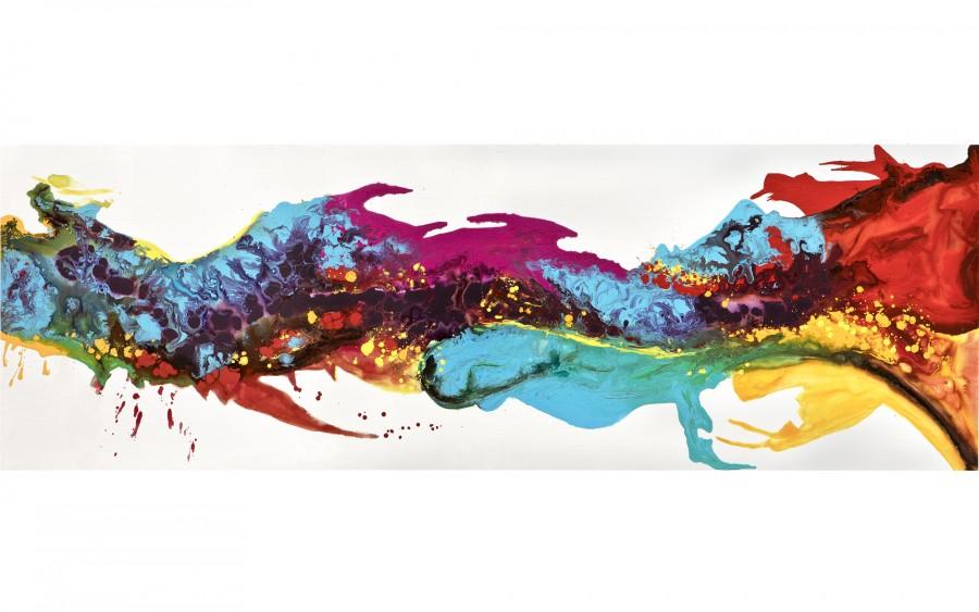 Obraz abstrakcyjny 50x150 cm Rainbow Flows