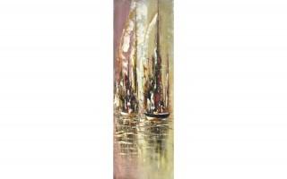 Obraz abstrakcyjny 50x150 cm Morning in the Docks