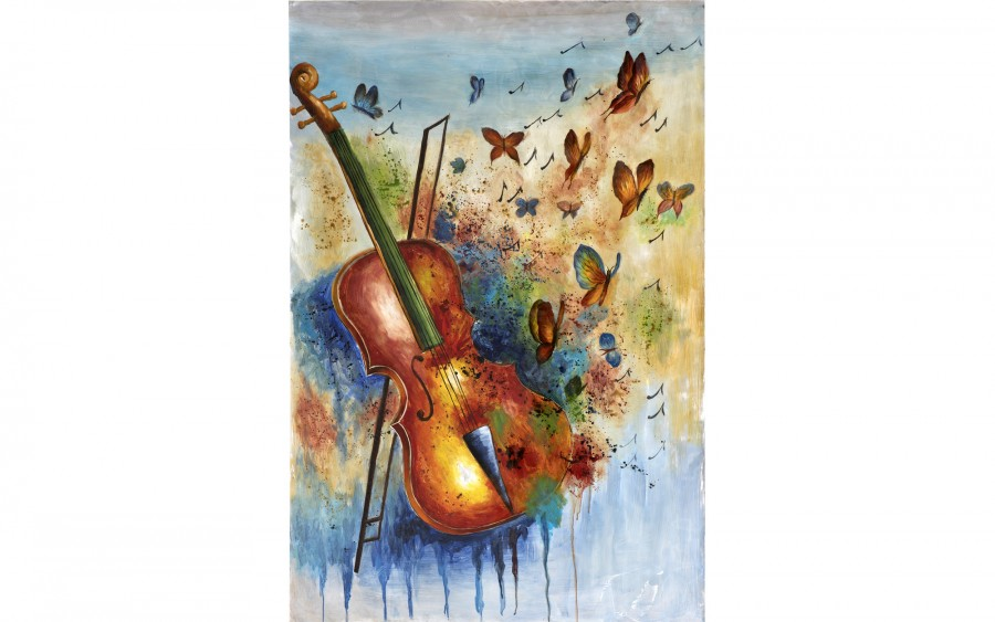 Obraz 100x150 cm Violin's Butterflies