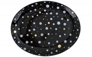 Talerz owalny płytki Black Galaxy 22x18 cm