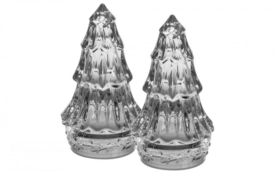 Zestaw solniczka + pieprzniczka kryształowa Bohemia
