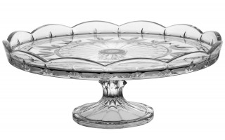 Kryształowa tortownica na nóżce Bohemia