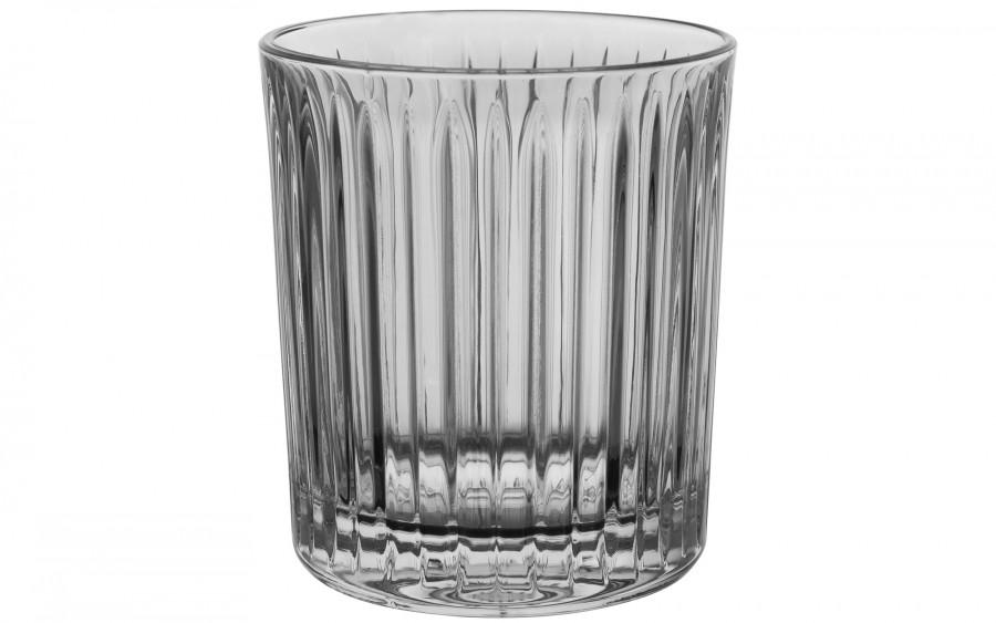 Szklanka kryształowa w paski Bohemia