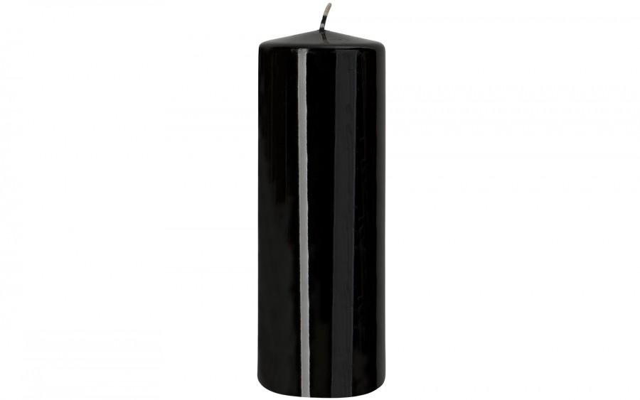 Świeca klubowa czarna śr. 7 cm