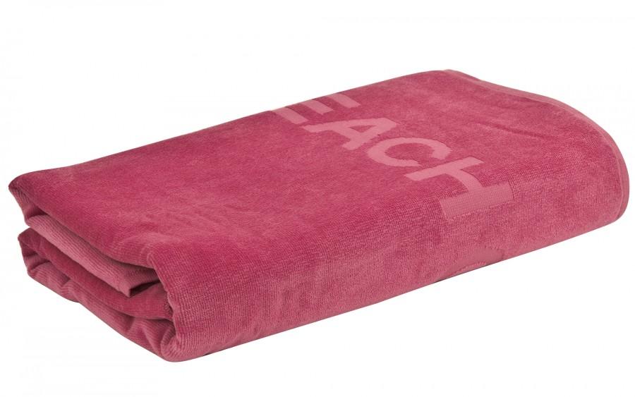 Ręcznik plażowy różowy 100x150 beach
