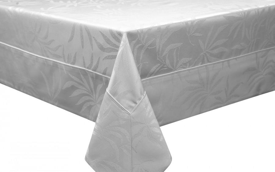 Obrus Delfos White 099- biały 140x210 cm