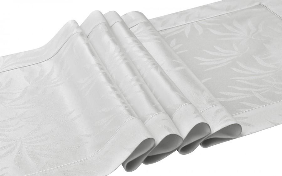 Bieżnik Delfos White 099- biały 50x150 cm