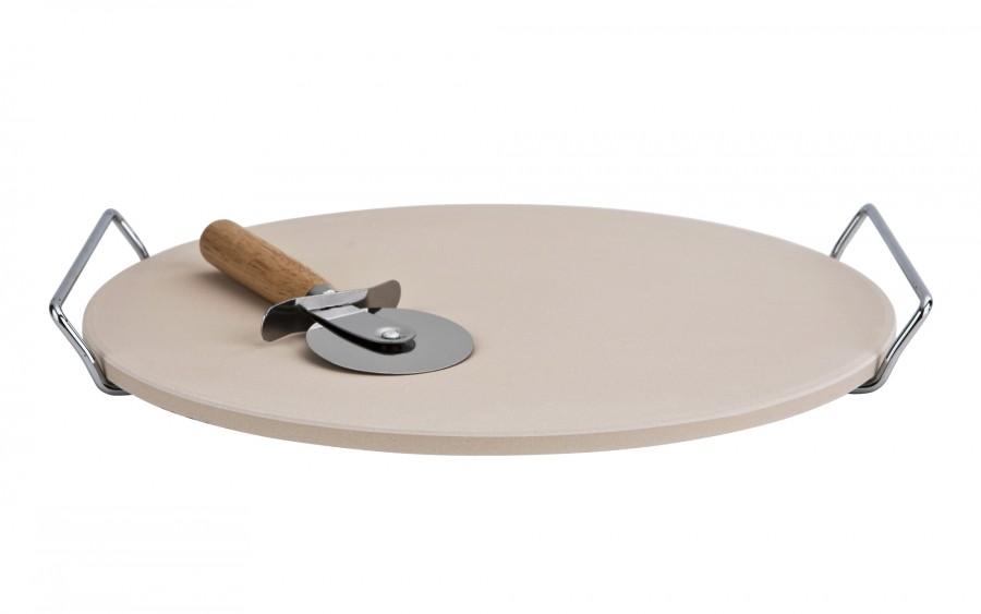 Zestaw kamień do pizzy 33 cm +nóż