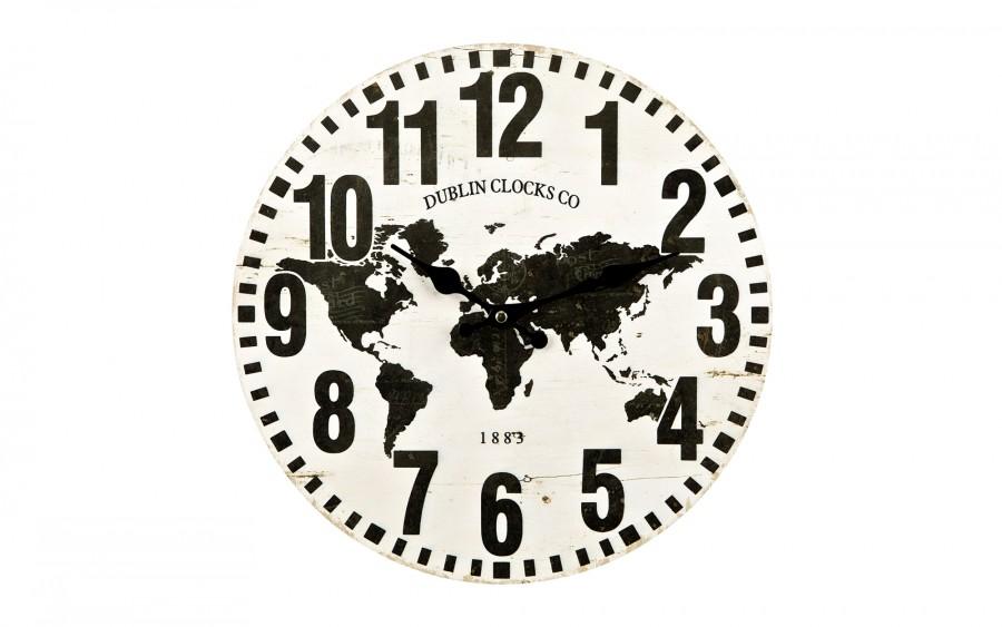 Zegar drewniany 34 cm