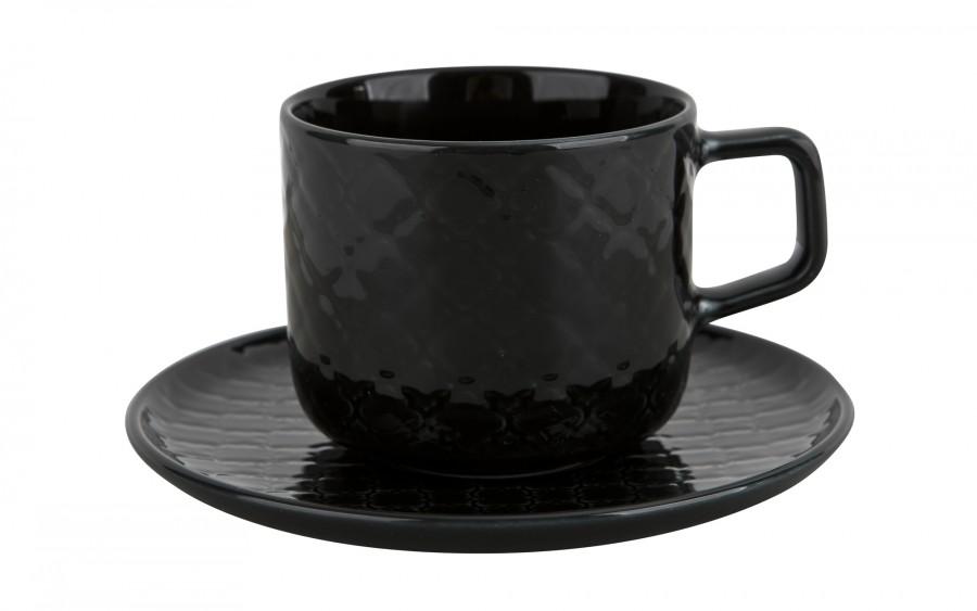 Filiżanka ze spodkiem 250 ml Marrakesz czarny