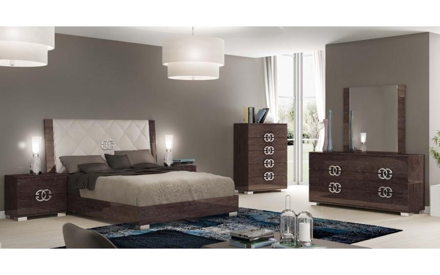 Prestige umber łóżko tapicerowane wezgłowie