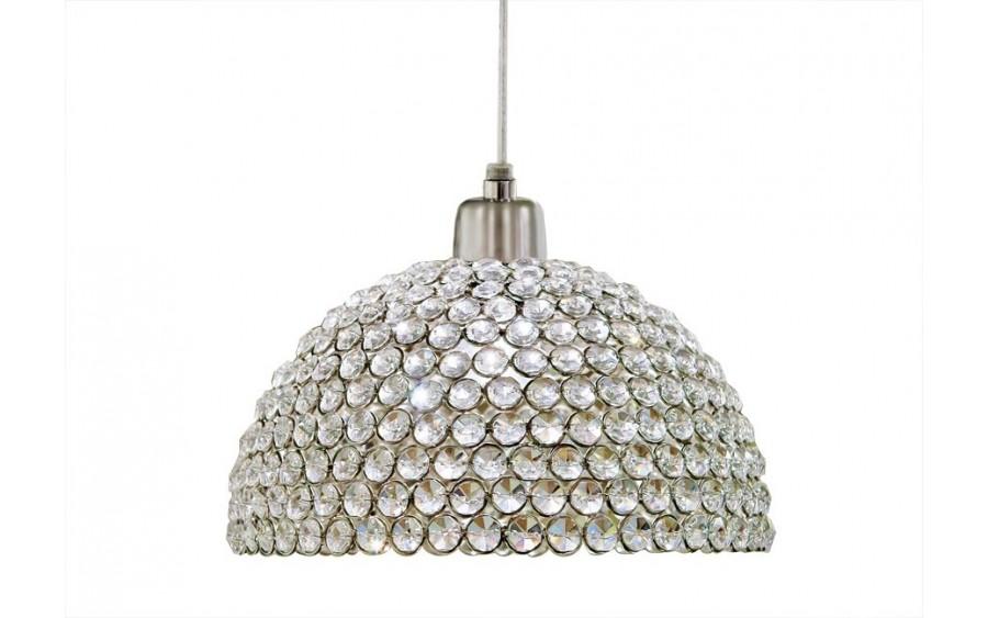 Lampa z kryształami