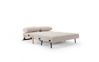 Sofa Cubed z nogami drewnianymi (140 cm)