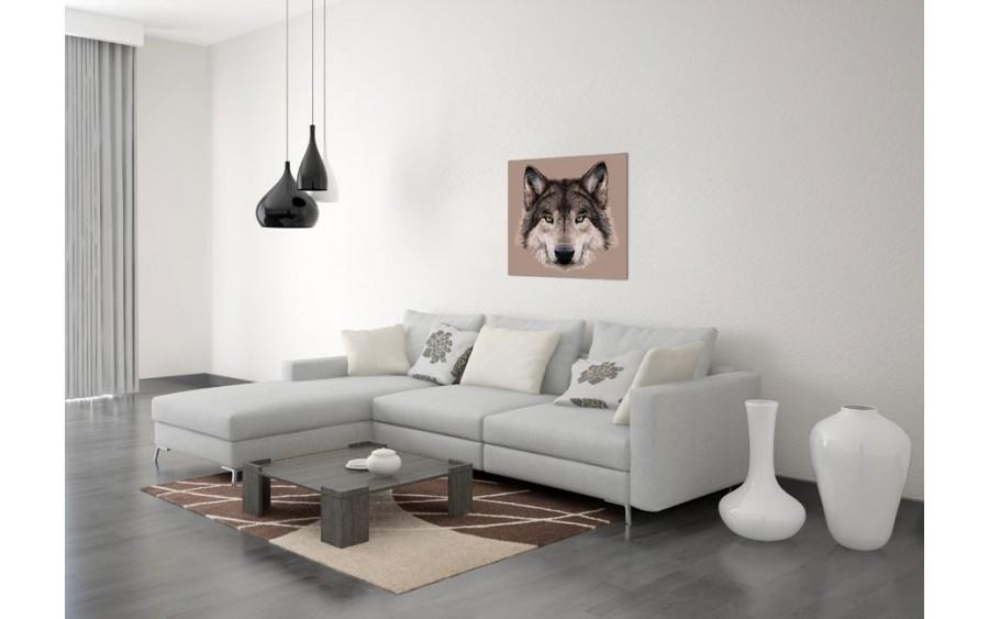 Obraz szklany 60x60 Wilk (260337)