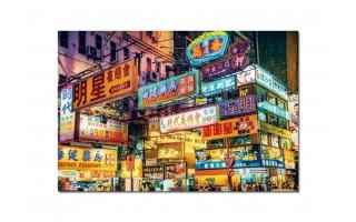 Obraz szklany 120x80 Chińskie miasta