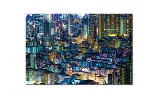 Obraz szklany 120x80 Miasto nocą