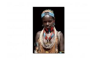Obraz szklany 80x120 Kobieta plemienia