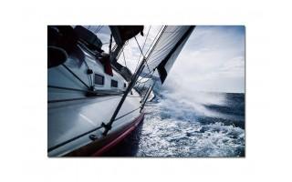 Obraz szklany 120x80 Jacht (260242)