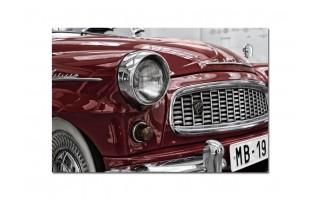 Obraz szklany 120x80 Auto retro czerwone (260240)