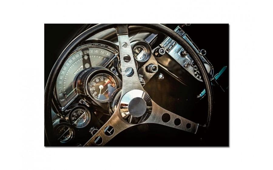 Obraz szklany 120x80 Kierownica (260238)