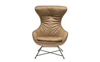 Fotel HE474-3 róż/złoty