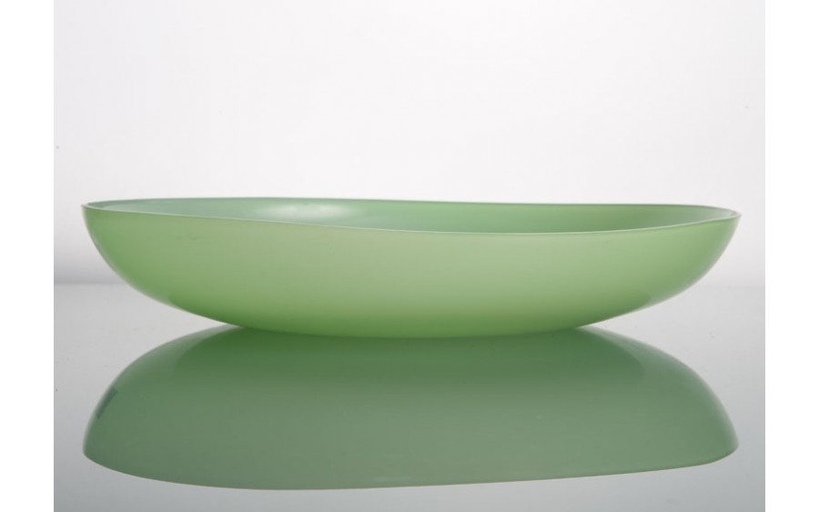 Patera szklana 34cm zielona