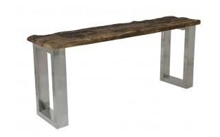 Stół z imitacją drewna na stalowych nogach 180cm