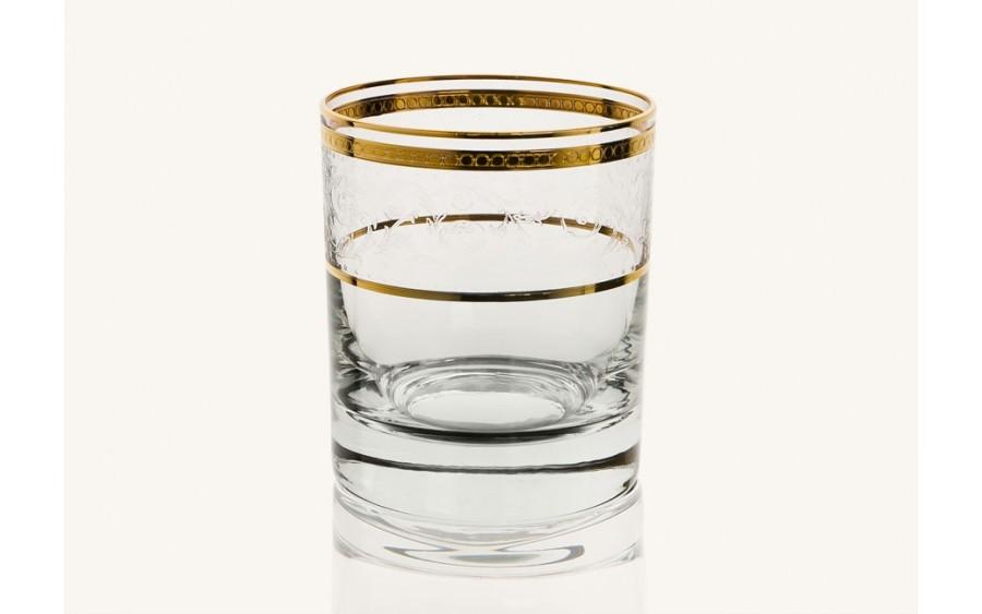 Szklanka whisky 300ml (6 szt.) Dolce Vita Gold