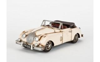 Model samochodu Jaguar 1959 beżowy