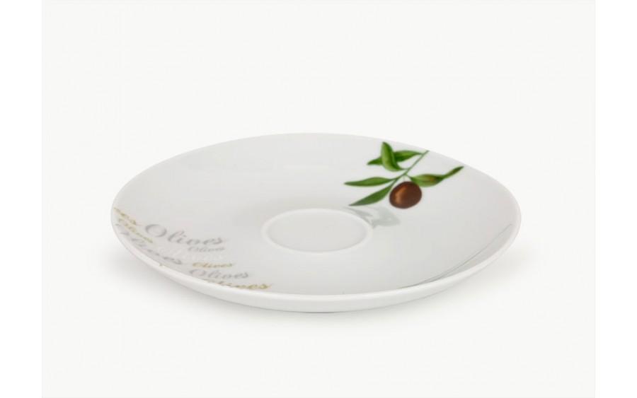 Spodek 17cm do filiżanki / bulionówki Olives