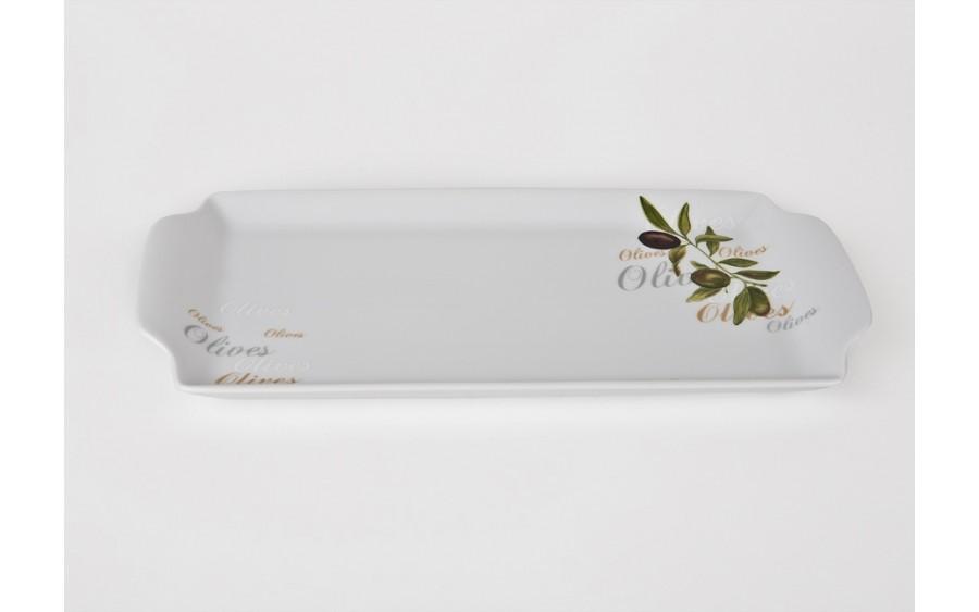 Tacka prostokątna 36x17cm Olives