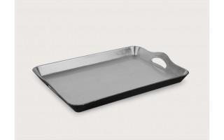 Taca plastikowa 29x44cm - srebrna
