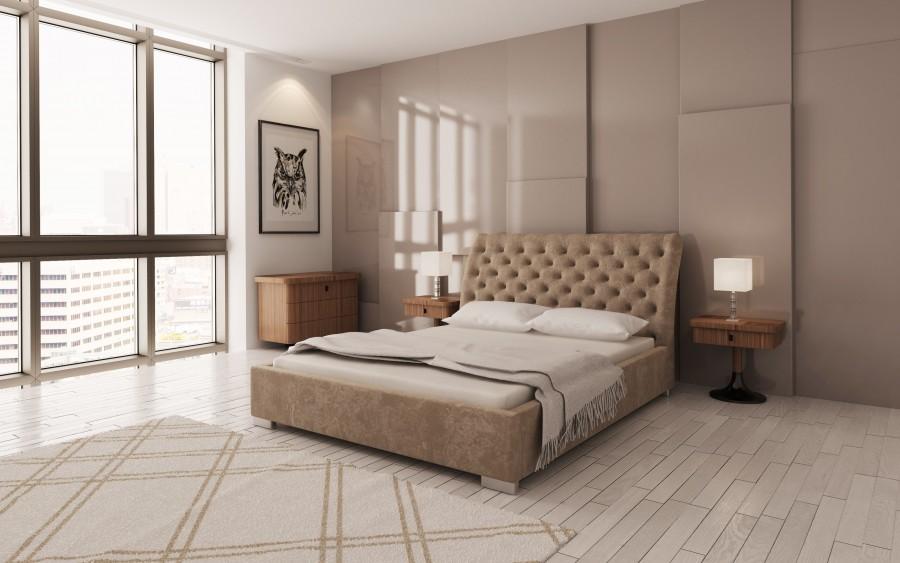 Model XXIV łóżko tapicerowane