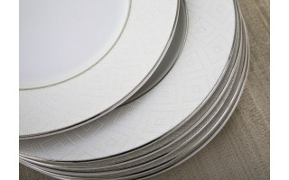 Kpl. 6 talerzy deserowych 20cm Madera Silver